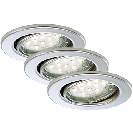 Briloner faretto LED da incasso 3 x LED GU10 3 W orientabile rotondo chromo GU10 3 watts A+
