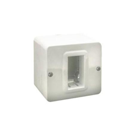 Contenitori ave 44qc01 autoportanti ral 9010 ip40 per minicanali da 20 10 mm a 30x 8 mm 1 modulo s